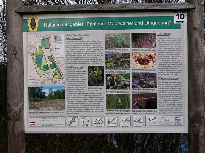 Tafel des Besucherinformationssystems
